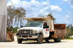 Ford F-550 Super Duty. Campeche, Mexico - May 20, 2017: Dump truck Ford F-550 Super Duty at the countryside royalty free stock photos
