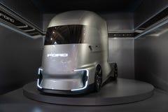 Ford-F-Visions-Zukunft-LKW, elektrisch und autonom lizenzfreies stockbild