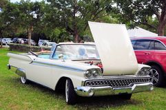 1959 Ford Fairlaine. 1959 Convertible Ford Fairlaine Galaxie 500 in a South Florida park Royalty Free Stock Photos