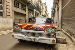 Ford Fairlane Galaxie 50s Havana stockbilder