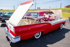 1957 Ford Fairlane Skyliner Automobile stock image