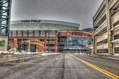 Ford Field Royalty-vrije Stock Afbeelding