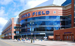 Ford Field in Detroit Royalty-vrije Stock Afbeeldingen