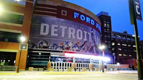 Ford Field Home de la porte C de Detroit Lions Images libres de droits