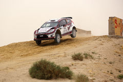 Ford Fiesta - 2012 Kuwait International Rally Royalty Free Stock Photography