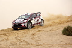 Ford Fiesta #7 - 2012 Kuwait International Rally Stock Photography