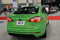 Ford fiesta at auto show rear Stock Image
