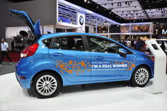 A 2015 Ford Fiesta is displayed at the 36th Bangkok International Motor Show Royalty Free Stock Images