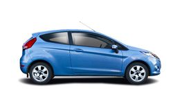 Ford Fiesta. Isolated on white royalty free stock photo