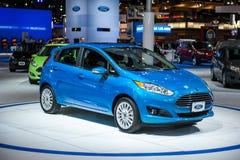 Ford Fiesta na feira automóvel de Chicago Fotografia de Stock Royalty Free