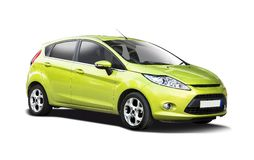 Ford Fiesta new. New Ford Fiesta isolated on white royalty free stock images