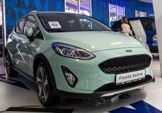 Ford Fiesta no 54th carro internacional e na exposição automóvel de Belgrado imagens de stock