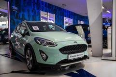 Ford Fiesta no 54th carro internacional e na exposição automóvel de Belgrado imagem de stock