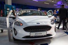 Ford Fiesta no 54th carro internacional e na exposição automóvel de Belgrado fotos de stock royalty free