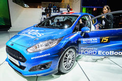 Ford Fiesta R2, Motor Show Geneva 2015. Royalty Free Stock Image
