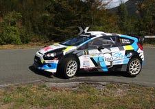 Ford Fiesta R5 na ação imagens de stock