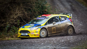 Ford Fiesta R5+ rally car Stock Photography