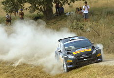 Ford Fiesta rally car Stock Photo