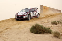 Ford Fiesta RRC - 2012 Kuwait International Rally Stock Image