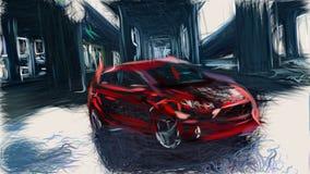 2014 Ford Fiesta St Id 8775 Stock Illustration Illustration Of