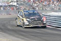 Ford Fiesta ST-M-sport som är drivande vid #00 Steve Arpin Fotografering för Bildbyråer