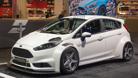 2016 Ford Fiesta ST at SEMA. LAS VEGAS, NV/USA - NOVEMBER 4, 2016: Customized 2016 Ford Fiesta ST car at the Specialty Equipment Market Association SEMA 50th Royalty Free Stock Images