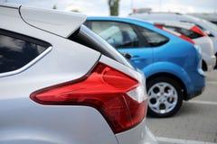 Ford Focus baklykta royaltyfria bilder