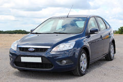 Ford Focus 2008 blue. Klima Royalty Free Stock Photo