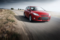 Ford Focus Fast drive car speed on the road Royalty Free Stock Photo