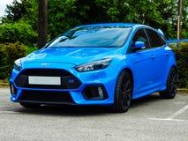 2016 Ford Focus RS - νιτρώδες μπλε Στοκ Εικόνες