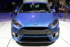 Ford Focus RS car. GENEVA, SWITZERLAND - MARCH 3, 2015: 2016 Ford Focus RS car debuts at the 85th International Geneva Motor Show in Palexpo Stock Photo