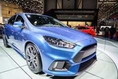 Ford Focus RS, Motor Show Geneve 2015. Ford Focus RS at the 85th International Geneva Motor Show in Palexpo, Switzerland Royalty Free Stock Image