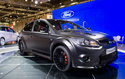 Ford focus rs race car on show Stock Photography