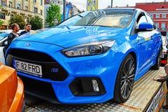 Ford Focus RS in Transilvania verzamelt 2016 cluj-Napoca Stock Afbeelding
