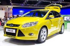 Ford Focus samochód na pokazie. Obrazy Stock