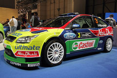 Ford Focus WRC Rally Car - 2010 Geneva Motor Show Royalty Free Stock Photography