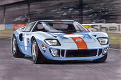 Ford Ford GT40 1968 illustration stock