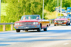 Ford galaxie 500 XL röd 1963 Royaltyfri Foto
