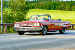 Ford galaxie 500 XL rood 1963 Royalty-vrije Stock Fotografie