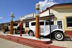 Ford garage, en eatery i Florida royaltyfri bild