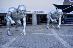 Ford grzmotu alei gracza futbolu rzeźby Zdjęcia Stock