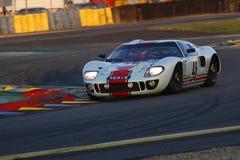 Ford GT 40 al chicane Immagini Stock