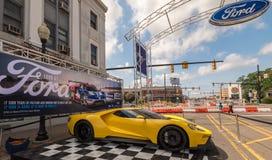 2016 Ford GT, ` del callejón del mustango del `, travesía ideal de Woodward, MI Imagenes de archivo