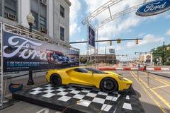 2016 Ford GT, ` del vicolo del mustang del `, crociera di sogno di Woodward, MI Fotografie Stock Libere da Diritti