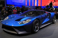 2017 Ford GT en el NAIAS 2015 Imágenes de archivo libres de regalías