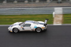 Ford GT FIA GT1 på racen Fotografering för Bildbyråer