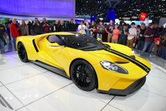 Ford GT, Ford supercar bij Internationale Auto van New York toont jpg Royalty-vrije Stock Foto's