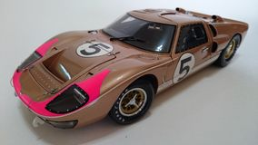 Ford Gt Mk II, third of LeMans race Royalty Free Stock Photos