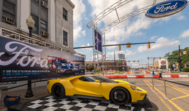 2016 Ford GT, `-Mustangsteeg `, Woodward-Droomcruise, MI Stock Afbeeldingen