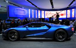 2017 Ford GT no NAIAS 2015 Fotos de Stock Royalty Free